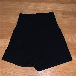 high waisted yoga shorts